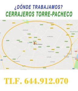 ¿ en que zonas de Torre-Pacheco trabajamos ?